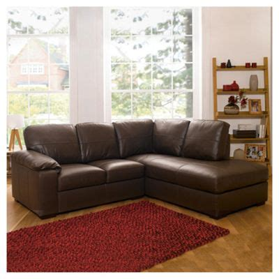 brown leather corner couch buy ashmore leather corner sofa brown right hand facing