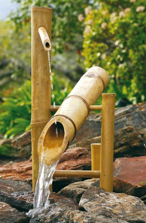 bamboo large 20 quot rocking garden water fountain pump kit