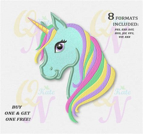 embroidery design unicorn bogo free rainbow unicorn applique embroidery design