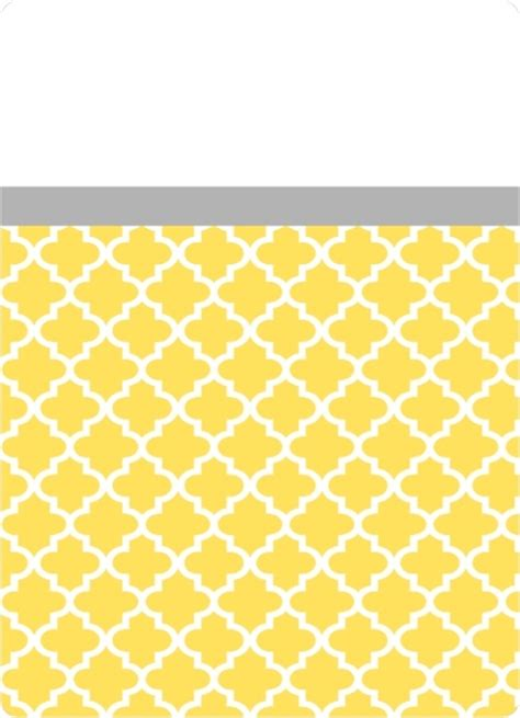 yellow moroccan pattern gray and yellow moroccan pattern wedding invitation by
