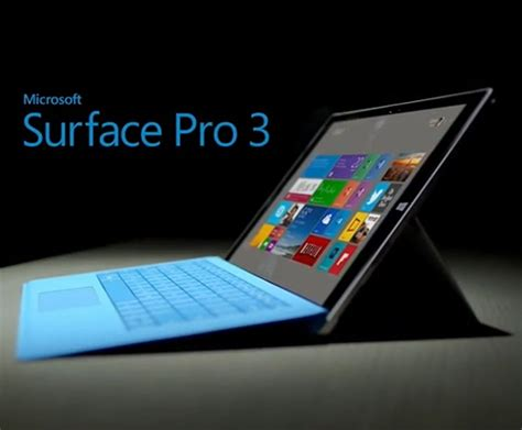 Komputer Tablet Microsoft Surface microsoft surface pro 3 gets software update