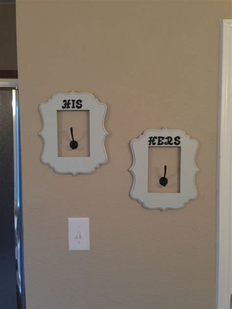 his and hers bathroom decor his and hers towel hooks for master bathroom
