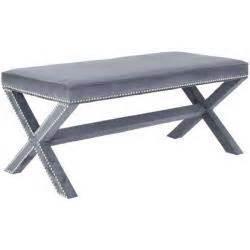 overstock x bench grey nailhead x bench overstock com