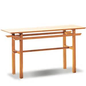 Japanese Console Table Pagoda Living Room Tables Contemporary Tables Eco Friendly Bamboo Tables