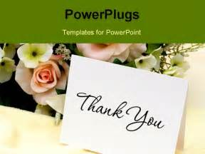 Powerpoint Thank You Card Template by A Bouquet Of Flowers With A Thank You Card Thank You Card