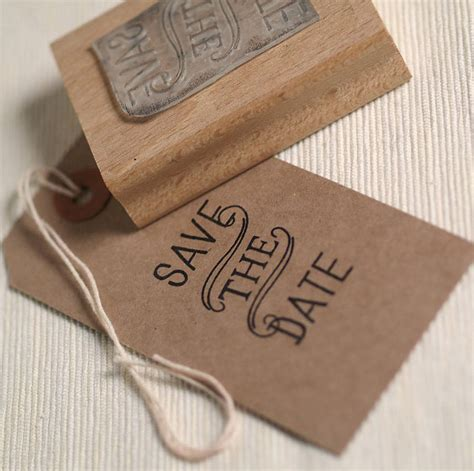 rubber date st vintage style save the date st by beautiful day