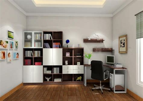 study room interior design bookcase 3d house