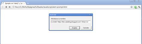 tutorial javascript prompt the cubeblog tutorial de desarrollo web parte xxvii