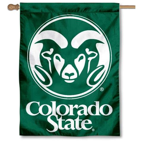 csu rams colorado state csu rams banner flag your colorado state