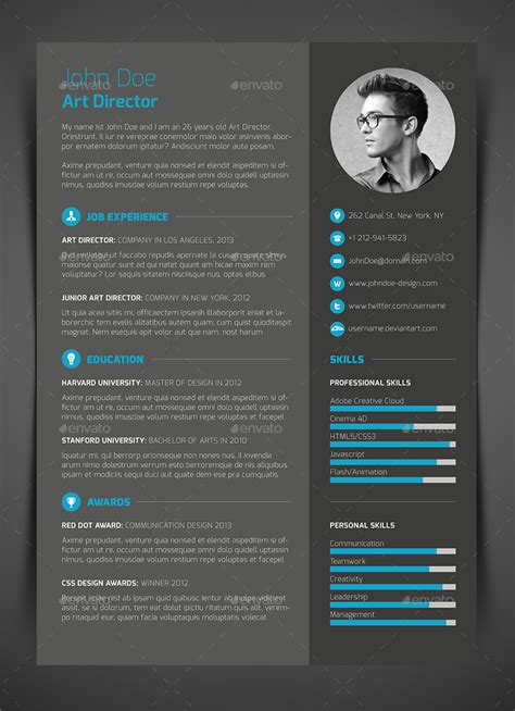3 resume cv cover letter by bullero graphicriver