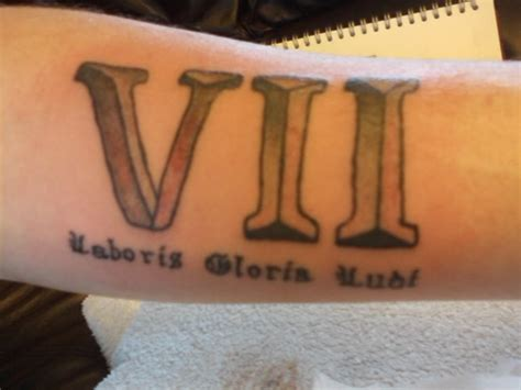 roman numeral seven tattoo by amylou31 on deviantart