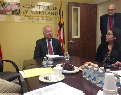 certification letter from the maryland comptroller s office of 20 businesses and who he says collectively owe