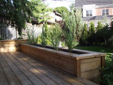 Built In Deck Planter Boxes by Built In Deck Planters Gardens