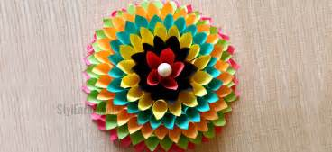 craft decoration wall decoration ideas to make floral craft for your walls
