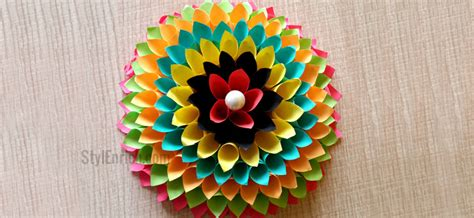 Paper Craft Decoration Home - wall decoration ideas to make floral craft for your walls