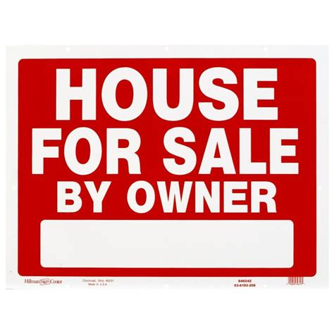 house for sale sign shop hillman sign center 18 in x 24 in house for sale by owner sign at lowes com
