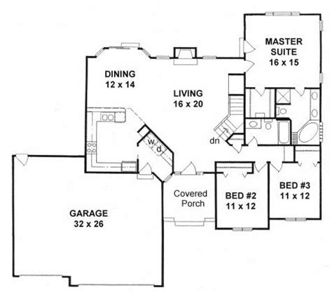 house plans with angled garage plan 1672 3 bedroom ranch w angled walls and 3 car