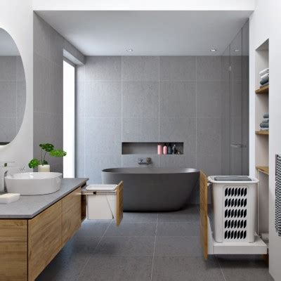 Hideaway Bathroom Bin Gallery   Waste bins & Laundry