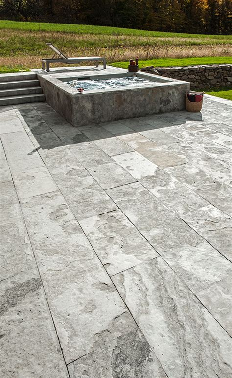 Cut Flagstone Patio by Eramosa Flamed Square Cut Flagstone Pavers