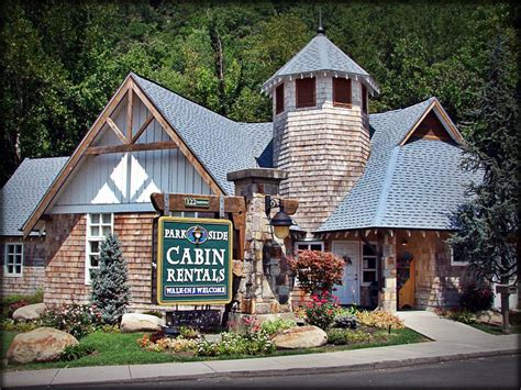 vacation cabin rentals parkside cabin rental office in gatlinburg my favorite