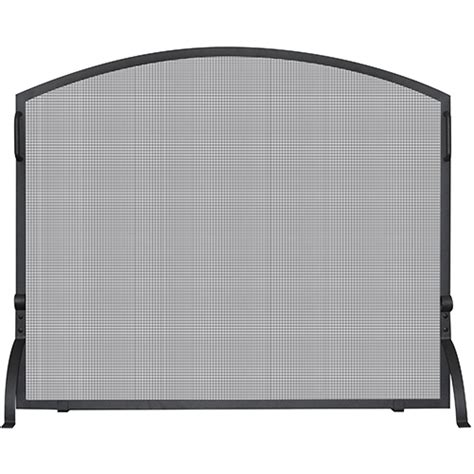 small fireplace screen black arched small single panel screen blue rhino screens
