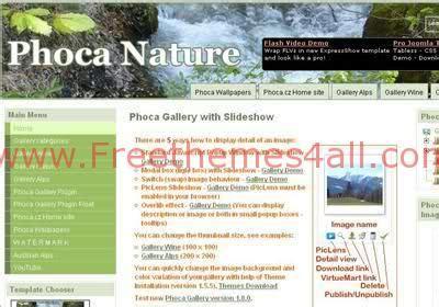 phoca gallery themes joomla 3 0 free joomla phoca nature green website template