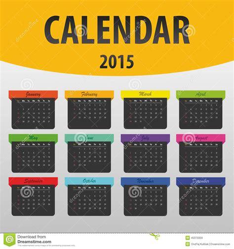 printable banner calendar 2015 colorful calendar 2015 year banner template vector stock