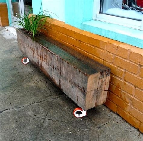 garden planter bench 9 diy planter benches for your outdoor spaces shelterness