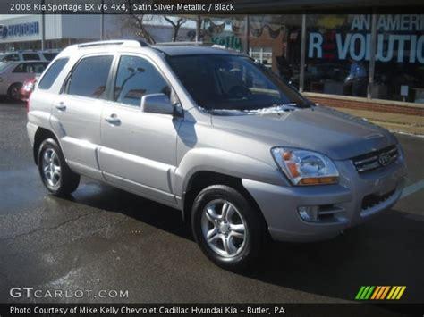 2008 Kia Sportage Ex Satin Silver Metallic 2008 Kia Sportage Ex V6 4x4