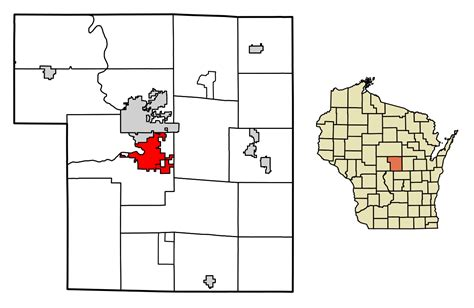Portage County Search File Portage County Wisconsin Incorporated And Unincorporated Areas Plover Highlighted