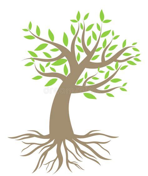 albero clipart albero con le radici illustrazione vettoriale