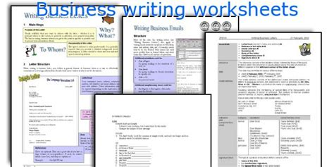 printable business english worksheets english teaching worksheets business writing