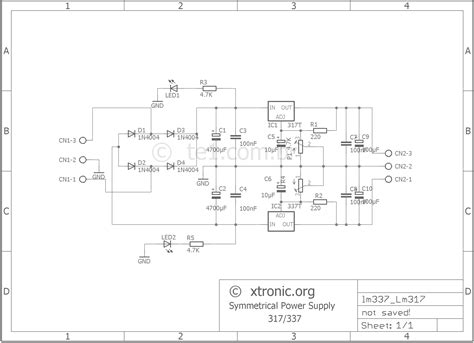 lm317 adjustable voltage regulator wiring diagram components