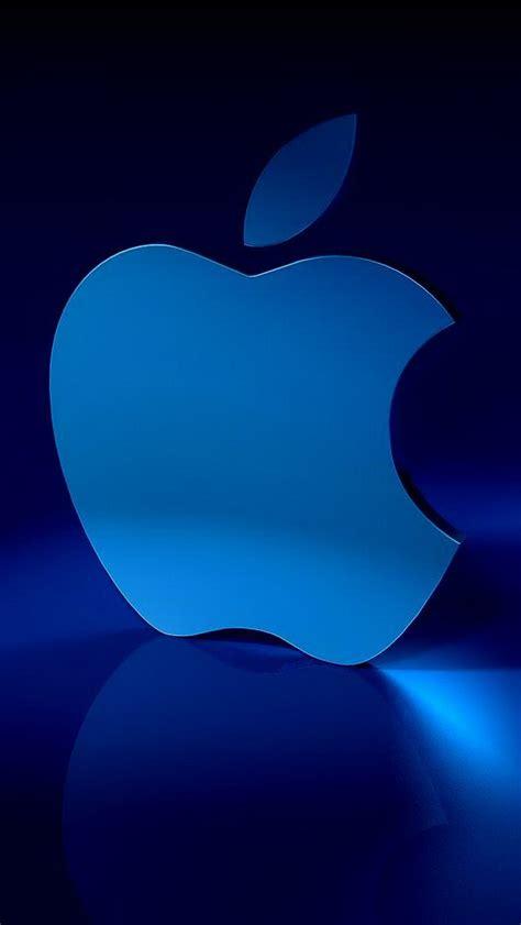 blue apple logo wallpaper  iphone wallpapers