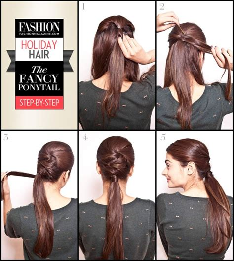 easy hairstyles for waitress s 5 step by step hair tutorials you can do for the holidays