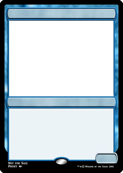 blue magic card template 16 best images about mtg templates on black