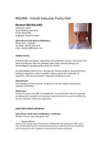 Pastry Chef Resume Sle by Pastry Chef Resume Sle