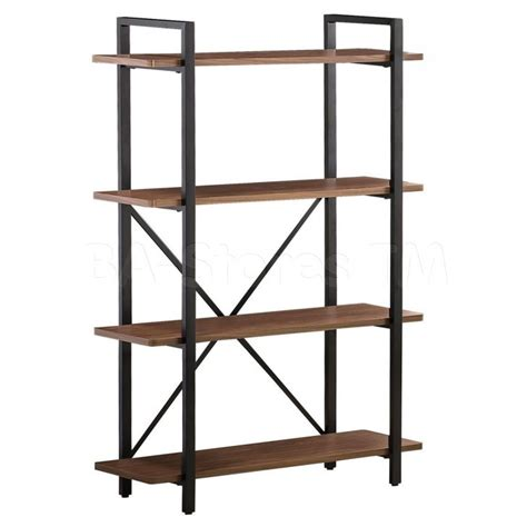 bookshelves industrial furniture captivating idea of metal and wood bookcase