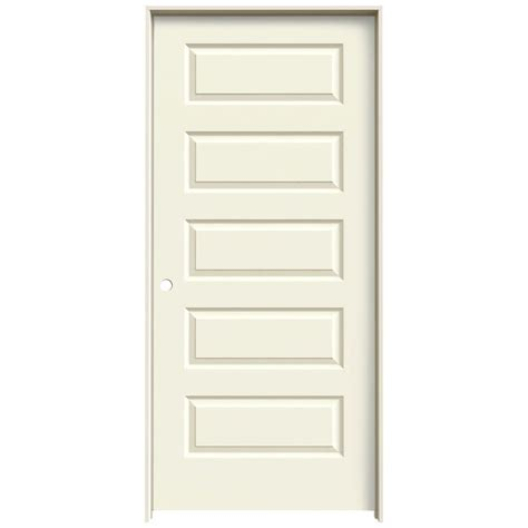 36 X 80 Closet Door Jeld Wen 36 In X 80 In Molded Smooth 5 Panel Vanilla Hollow Composite Single