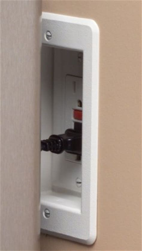 recessed outlet for ac adapter arlington dvfr1w 1 recessed electrical outlet mounting box