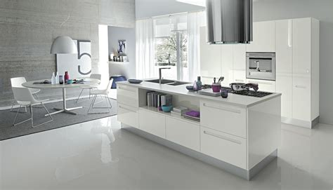 modern white kitchen open modern kitchens with few pops of color