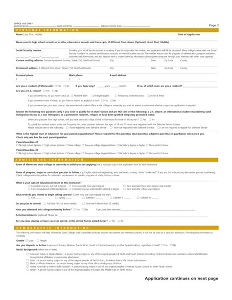 U Of Mn Mba Admissions by Minnesota State Colleges Universities Application Form