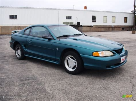 1996 pacific green metallic ford mustang v6 coupe