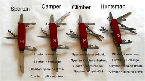 victorinox huntsman difference between victorinox spartan cer climber and