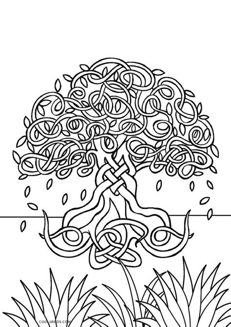 coloring for free printable tree coloring pages for cool2bkids