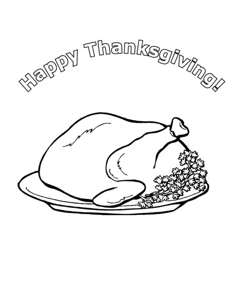 free turkey dinner coloring pages