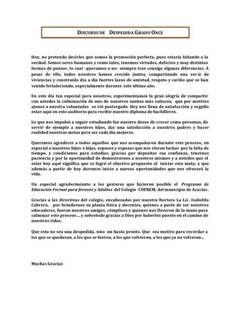 Discurso Para Despedir Egresados Guadalajara | discurso de despedida grado once