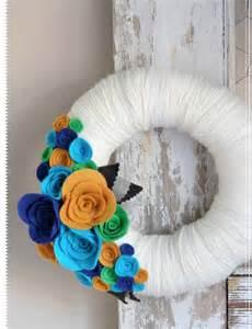 Felt Handmade Craft - giving handmade felt blooms wreath 171 lark crafts