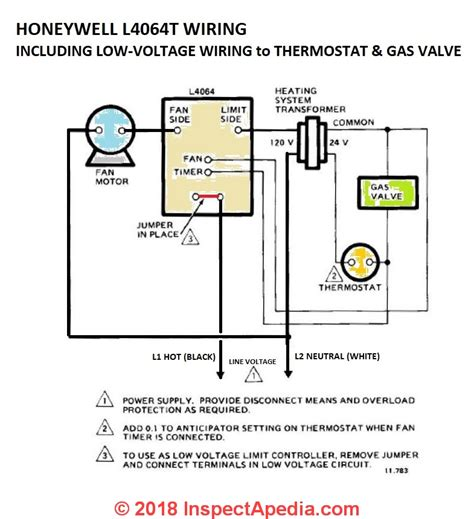 install wire  fan limit controls  furnaces