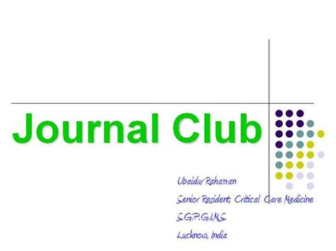 Journal Club Authorstream Journal Club Template Ppt